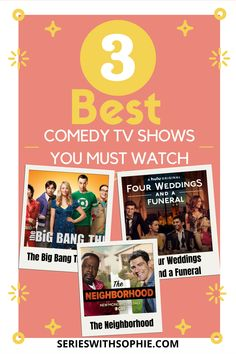 In the mood for laughs? Check out our recommended sitcom comedy TV shows that you must watch right now, sure its funny and can make you laugh, share it with your friends. Click the link now to check it out. #sitcomtvshows #funny #tvshows #TheBigBangTheory #FourWeddingsAndAFuneral #TheNeighborhood Comedy Tv Series, Comedy Tv Shows, Best Tv Shows, Favorite Tv Shows, Best Romantic Comedies, Big Bang Theory, You Must, A Funny, Bigbang