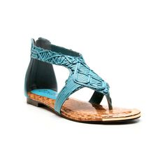 Two Lips Too Zeus Sandal Turquoise up to 70% off | Shoes | Little Black Bag