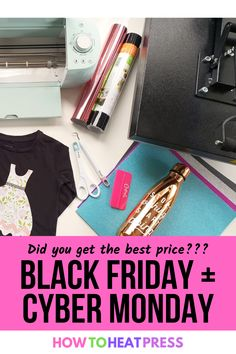 Did you make sure you're getting the best deal on that Cricut, heat press, or printer you've had your eye on? We are spending all weekend tracking and updating deals to make sure you get the best one! Sites we're keeping an eye on: -Cricut.com -Heat Press Nation -Craft-E-Corner -Amazon -Heat Transfer Warehouse -Target -Design Bundles -Creative Fabrica