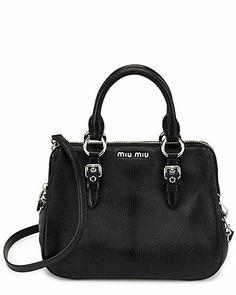 "Miu Miu ""Madras"" Leather Top Handle Bag"