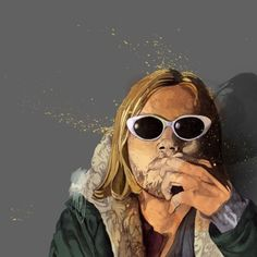 Definitely one of my favorite's from the 90's, the lead singer from the band Nirvana - Kurt Cobain