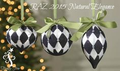 RAZ Harlequin Ornament Set of 3