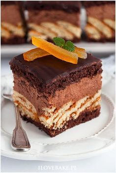 Gourmet Desserts, Gourmet Recipes, Cake Recipes, Dessert Recipes, Polish Recipes, Food Cakes, Food Plating, Food To Make, Nutella