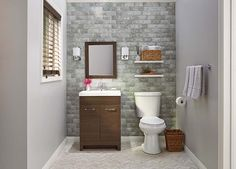 See how these bathrooms were designed using different vanities, tile and accessories.
