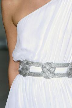 belt detail greek dress