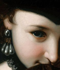 """Girl with a Book"".  Detail. Pietro Rotari.  1750."