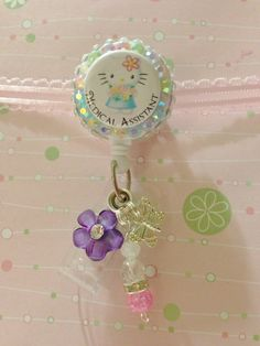 Medical Assistant Hello Kitty Badge Reel by BlingTasticBadgeReel, $10.00