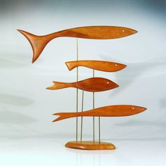 Mid Century Modern Fish Sculpture –
