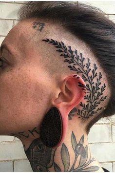 Incredible Head Tattoos for Females - Tattoos for Girls Rose Tattoo On Side, Back Tattoo, I Tattoo, Dragon Tattoo Designs, Tattoo Designs For Women, Tattoos For Women, Body Tattoo Design, Full Body Tattoo, Head Tattoos