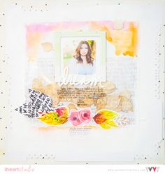 Scrapbook Fall Layout: Dream   Wilna  I heart studio
