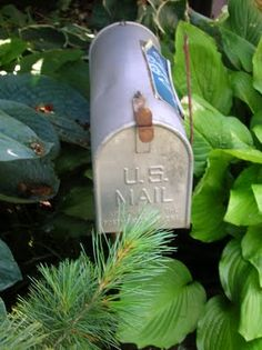 plant an old metal mailbox in the garden to keep your tools in :)