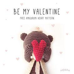 Valentine's day heart • Amigurumi Ornament • Free crochet pattern
