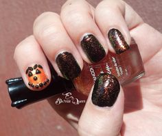 Sparkling Jack O Lantern - Halloween Nails - Nails in Motion