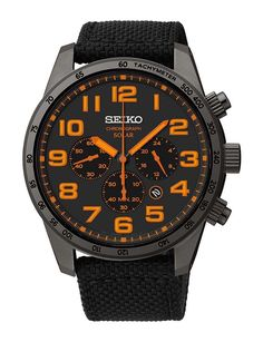 Sport Watches, Cool Watches, Watches For Men, Relogio Casio Edifice, Seiko Solar, Seiko Watches, Stainless Steel Watch, Black Nylons, Casio Watch