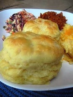 "Ruth's Diners Mile High Biscuits - Previous Pinner said ""These are hands down the softest, chewiest, most moist biscuits you will find! My go-to biscuit recipe."" (Ruth's Biscuits are the only reason to visit Ruth's Diner, located in Salt Lake City. I Love Food, Good Food, Yummy Food, Breakfast And Brunch, Breakfast Recipes, Recipes Dinner, Diner Recipes, Breakfast Biscuits, Ruths Diner"