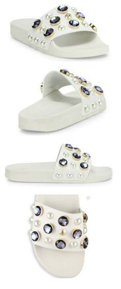 5325bf399c6d ... 1970s Low-Top Sneakers. Tory Burch. Vail Jeweled Leather Slides.   toryburch  shoes. featuring shoes