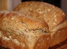 Homemade Multi-grain Bread Recipe  1 1/4 c hot multi-grain cereal mix 2 1/2 c boiling water 1/4 c honey 1/4 c melted butter 2 1/2 tsp yeast 7 1/2 oz whole wheat flour ( just shy of 1 cup) 15 oz all purpose flour (just shy of 2 cups) 1 Tbsp salt 3/4 c pumpkin seeds 3/4 c oatmeal ( more or less)