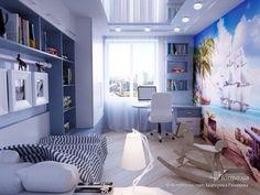 울산•부산인테리어 티디컴퍼니 /study room * 집중력을 높여주는 파란색으로 학생방 인테리어 디자인 : 네이버 블로그 Girl Bedroom Designs, Girls Bedroom, Bedroom Decor, Happy House, Kid Spaces, Apartment Design, Modern Bedroom, Girl Room, Interior Design Living Room