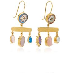 Balance Chalcedony Drop Earrings | Moda Operandi ($760) ❤ liked on Polyvore featuring jewelry, earrings, chalcedony drop earrings, pink jewelry, blue chalcedony jewelry, chalcedony jewelry and blue earrings