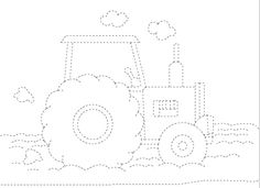 tractor trace worksheet  |   Crafts and Worksheets for Preschool,Toddler and Kindergarten