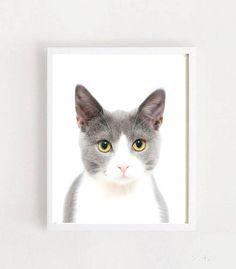 Cat Print Animal Prints Printable Art Nursery Prints Wall Nursery Prints, Nursery Art, Wall Prints, Printable Art, Printables, Animal Prints, Cats, Handmade Gifts, Animals