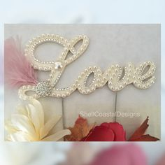 Ready to Purchase and Design Letter M Pearl Cake Topper Monogram Wedding Cake Topper w/ Swarovski Crystals Destination Wedding Monogram Cake Toppers, Custom Cake Toppers, Wedding Cake Toppers, Wedding Cakes, Art Deco Wedding Theme, Wedding Art, Wedding Decor, Cadre Diy, Biscuit