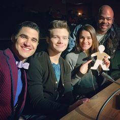 Darren Criss, Chris Colfer, Lea Michele  BTS of Glee