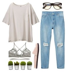 """""""Untitled #109"""" by samanthaanichols on Polyvore featuring Uniqlo, Monki, Lonely, Wildfox, Alexander Wang and Billabong"""