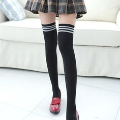Pink UK Size 4-8 EUR 35-40 NEW Neon Girls//Ladies Over The Knee Socks