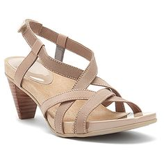 Aetrex Ashley Multi-Strap Heel Sandal found at #OnlineShoes