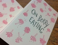 "Natalya Balnova ""On Berry Eating,"" a two-color, silkscreened,  9.5 x 5"" accordion booklet."