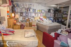 Large selection of quality beds, linen and pillows on display in our showrooms