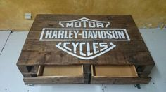HD Regalos Harley Davidson, Motor Harley Davidson Cycles, Woodworking Projects, Tiny House, Cave, Gun, Garage, Motorcycle, How To Make