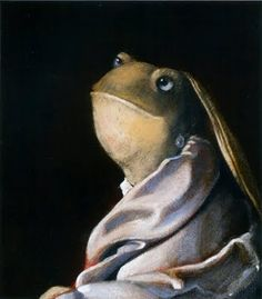 Animalarium: Svjetlan Junakovic's Old Masters revisited  Froggy with a Pearl Earring