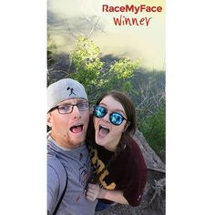 "A great selfie in the nature with a loved one - ""Save the Earth"" contest's winner is a a nice grimace-hug-sunglasses-baseballhat-inthenature selfie combination! :) Get the app now!  Appstore: www.asmileppstore.com/RaceMyFace  Play Store: goo.gl/R1mwSM  #RaceMyFace #RaceMyFaceWinner #selfiecontest #winwithyourselfie #selfie #selfies #prizes #selfietime #selfienation #winner #inthenature #sunglasses #grimace #baseballhat #hug Selfie Time, Selfies, Hug, Round Sunglasses, Baseball Hats, Earth, Play, Nice, Store"