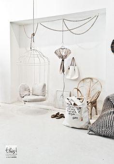 White featherdream - stoel voor in kamer Lorelai