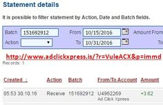 Here is my #84 Withdrawal Proof from Ad Click Xpress. I get paid daily and I can withdraw daily. Online income is possible with ACX, who is definitely paying - no scam here. I WORK FROM HOME less than 10 minutes and I manage to cover my LOW SALARY INCOME. If you are a PASSIVE INCOME SEEKER, then AdClickXpress (Ad Click Xpress) is the best ONLINE OPPORTUNITY for you. Join for FREE and get 20$ + 10$ + 5$ Monsoon, Ad and Media value packs from ACX.