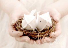 Love Birds Bird Nest Cake Topper Ring Bearer by cottonbirddesigns, £39.00