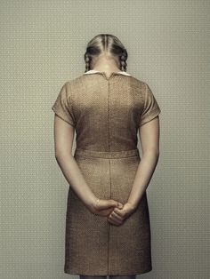 "From ""The Keyhole"" series, by photographer Erwin Olaf. It's photography art, but I love the band at the waist in the dress. To be replicated."