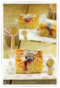 Cake de frutas de verano