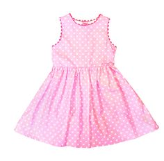 Toby Tiger, pink spot party dress, cotton £27