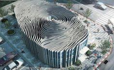 Fingerprint building Thailand architecture illusion