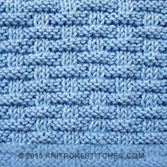 Broken Rib pattern  |  Knit and Purl stitches