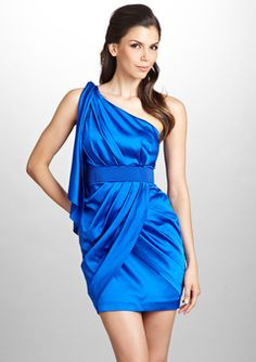 Dressing in drape. <~~~love the bold color!