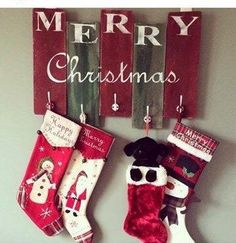 Dont have a mantel or staircase? No problem! This would be the perfect addition to your holiday décor!  This wooden stocking holder is hand