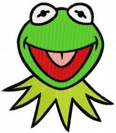 Kermit machine embroidery design. Machine embroidery design. www.embroideres.com