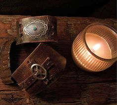 Beautiful Custom Vintage Leather wrist cuffs by Matt Dougan made to your specifications and out of vintage leather Saddle straps and belts. these were $48 now $38 This is our lowest price! today and tomorrow only, get them while you can orders will pile up for christmas.Get them at Iron Crow Vintage here is the link: http://www.ironcrowvintage.com/products/on-sale-lowest-price-today-and-tomorrow-were-48-now-only-38-rocker-biker-cowboy-cool-custom-vintage-leather-cuffs-by-matt-dougan.html