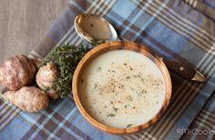 Soep van aardperen Paleo, Keto, Soups And Stews, Cheeseburger Chowder, Hummus, Healthy Recipes, Detox Recipes, Baking, Ethnic Recipes