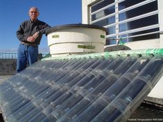 DIY Solar Water Heater For About $30 In PVC Supplies And Paint | From livingoutdoor