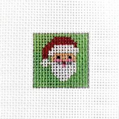 Painted Mini Canvas - Santa Face (Pre-Order)